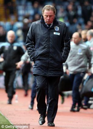 Despondent: QPR's loss at Aston Villa in March hit Redknapp's side hard