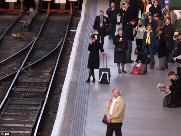 On average only 68 per cent of trains arrive on time, leaving a third of passengers waiting