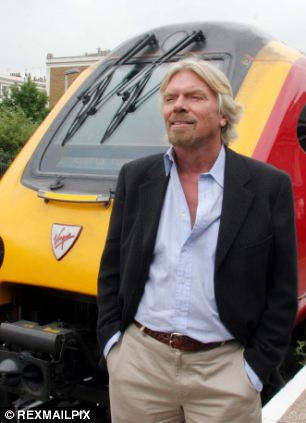 Virgin Trains, owned by entrepreneur Richard Branson (pictured), has one of the worst records for punctuality according to today's figures