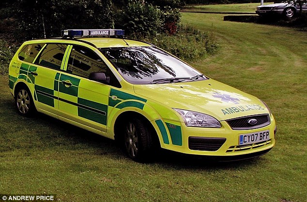 The ambulance vehicle, similar to the one pictured, was a write-off following the incident costing North Wales Ambulance Service more than £5,000