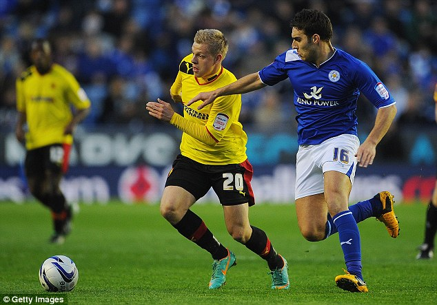 Loan rangers: Matej Vydra (right) is one of many players on loan at Watford from Udinese