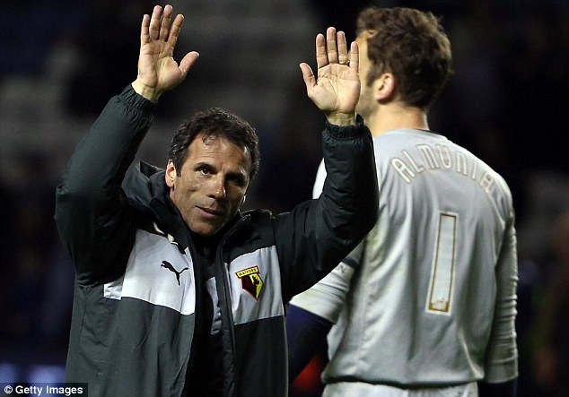 Loving life: Gianfranco Zola says taking charge of Watford is the best thing that has happened to him