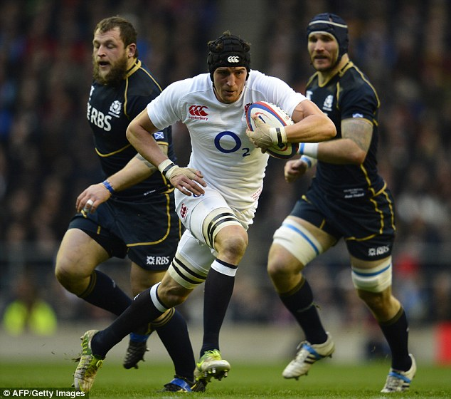 England's vice: Tom Wood is set to be named England captain if Chris Robshaw is rested for next month's tour of Argentina