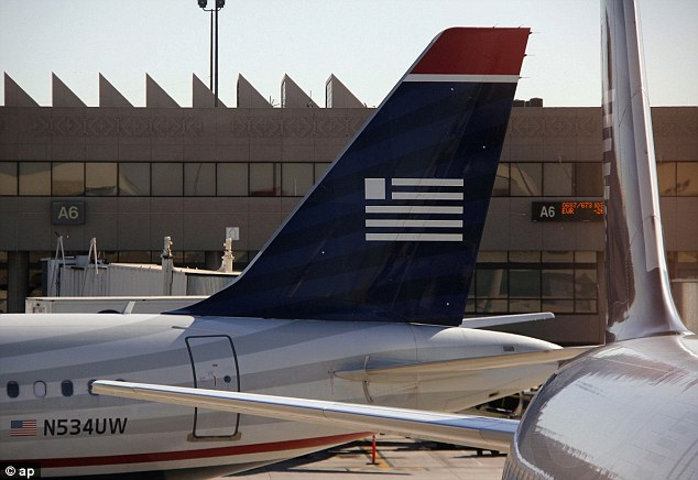 Making amends: A spokesperson for USAirways apologized to Wilson and said that he was re-booked on a later flight