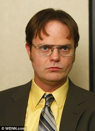 What would Dwight do? Actor Rainn Wilson, who portrays Dwight Schrute (pictured) on the NBC hit show The Office, ranted on Twitter about missing his connecting USAirways flight to Scranton