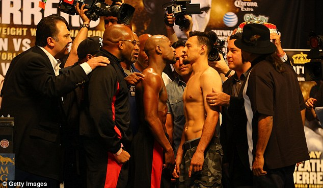 Face off: The two fighters are to meet at the MGM Grand in Las Vegas