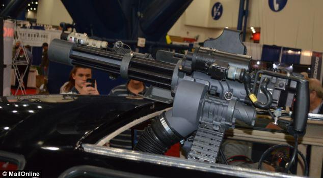Dillon Aerospace 7.62 M134 minigun, mounted on a vintage VW microbus