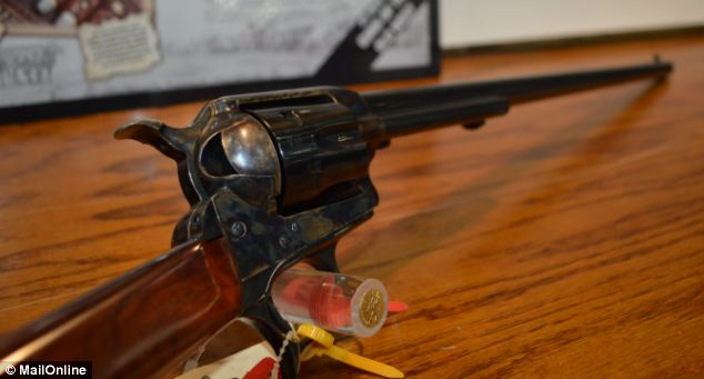 Heigh-Ho, Silver! Away! This 'Old West'-style piece could probably fit into a pirate's scabbard, but don't drink any coffee before you try to aim at anything: The slightest twitch will move the end of the barrel off your target