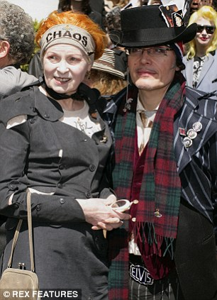 This is at the funeral of Sex Pistols manager Malcolm McLaren