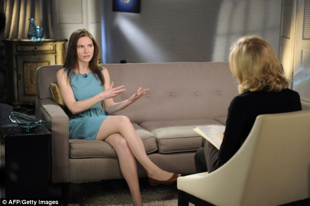 Amanda Knox has appeared on U.S. television to promote the release of her memoirs of her time in an Italian jail