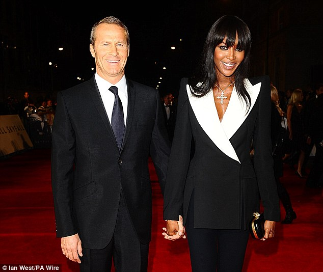 Naomi Campbell and Vladimir Doronin before they split. the model has thrown a party to celebrate her single girl status