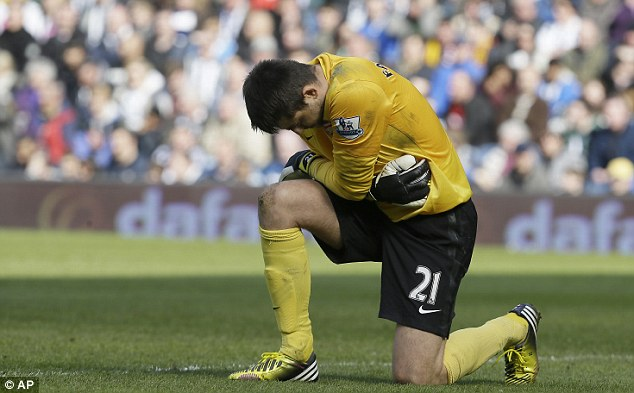 Competition: Lukasz Fabianski also impressed while Szczesny was out of the first team