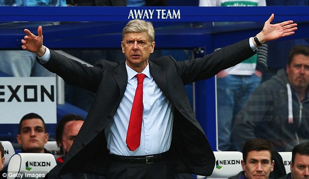Pressure: Arsene Wenger is determined to again lead Arsenal into the Champions League