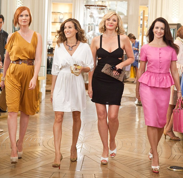 Reunited: The 48-year-old actress would love to see what happens for Carrie and her friends played by Cynthia Nixon, Kim Cattrall and Kristin Davis