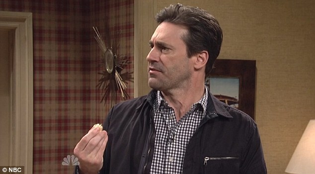 Two of a kind: Hamm appeared as the foil to Zach's character, Darrell, who previously has never welcomed a guest into his home