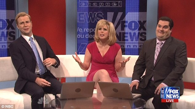 Current events meet comedy: Several of the show's regulars discussed gun control legislation from the stances of Fox News anchors