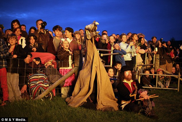 Ritual: It's hoped that as the Wickerman burnt well there will be good weather and crops for the year ahead