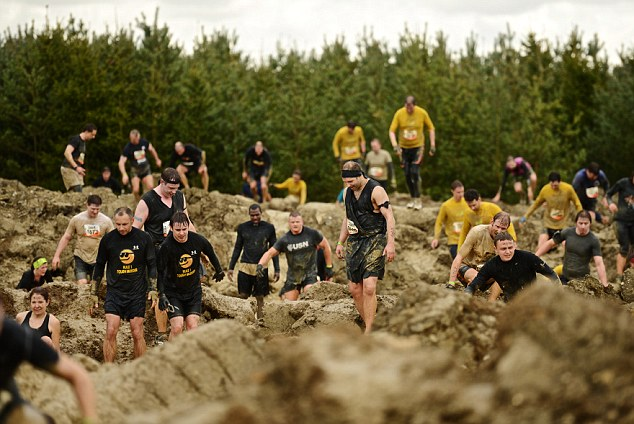 The rain and the hail added to the tonnes of mud on site as the course lived up to its name. Participants braved muddy trenches, and waist-high swamps