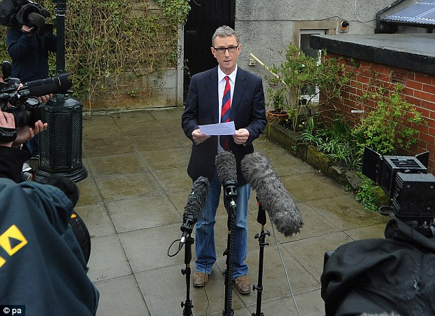 'Incredulity': Mr Evans said he could not understand why the 'completely false' accusations had been made