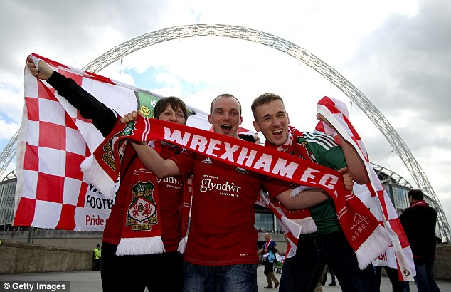 One off: It's not often that Wrexham fans get their chance to watch their team walk out at Wembley