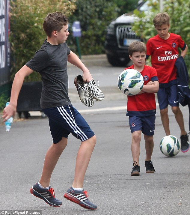 Starting their own team? It seems that the Beckham boys are following in the footsteps of their father with football
