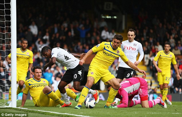 Excitement: The goal fest at Craven Cottage was one of Reading's best performances this season