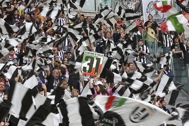 Flag day: Juventus supporters made it an occasion to savour