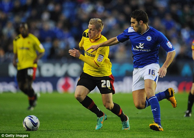 Loan shark: Udinese striker Matej Vydra has dazzled while on loan at Watford under Gianfranco Zola