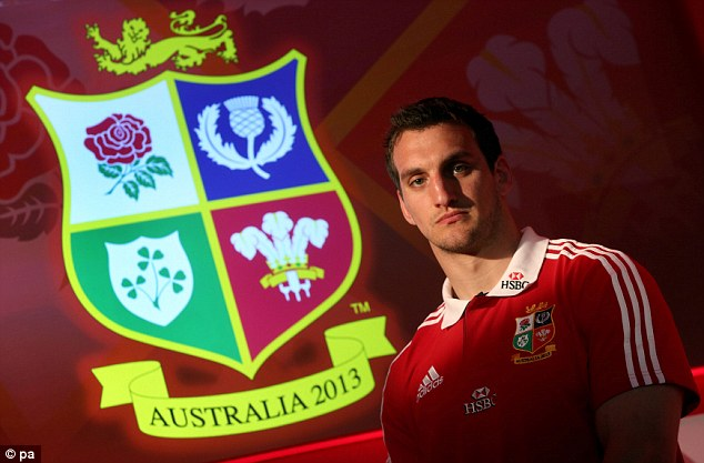 Respected: Sam Warburton was named captain of the British and Irish Lions last week