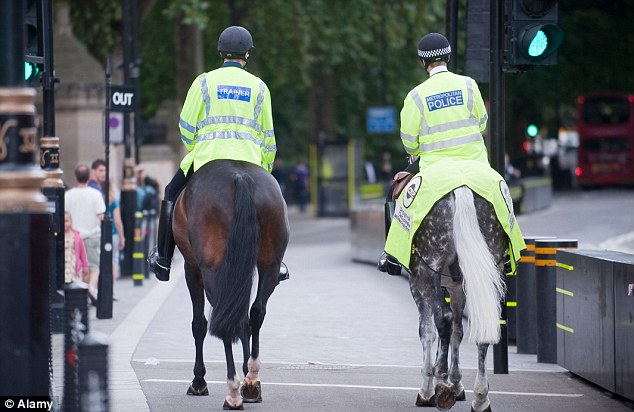 Assistant chief constable Ron Hanson said that individuals wearing the vests are likely to be mistaken for police (pictured)
