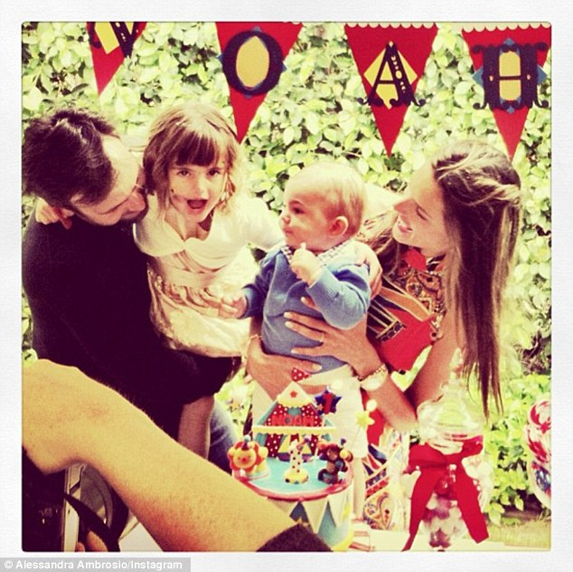 'Family love best thing in the world': Alessandra and her family celebrated Noah's first birthday with a lavish party last week