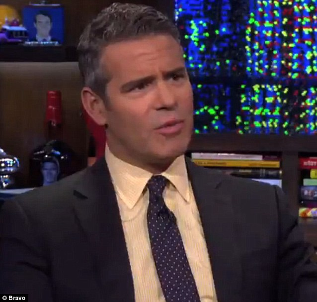 Revealing all: Host Andy Cohen questioned the Real Housewives of Atlanta star about other participants in the franchise