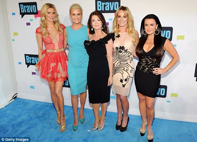 Too skinny? NeNe criticised the appearance of Lisa Vanderpump (centre)