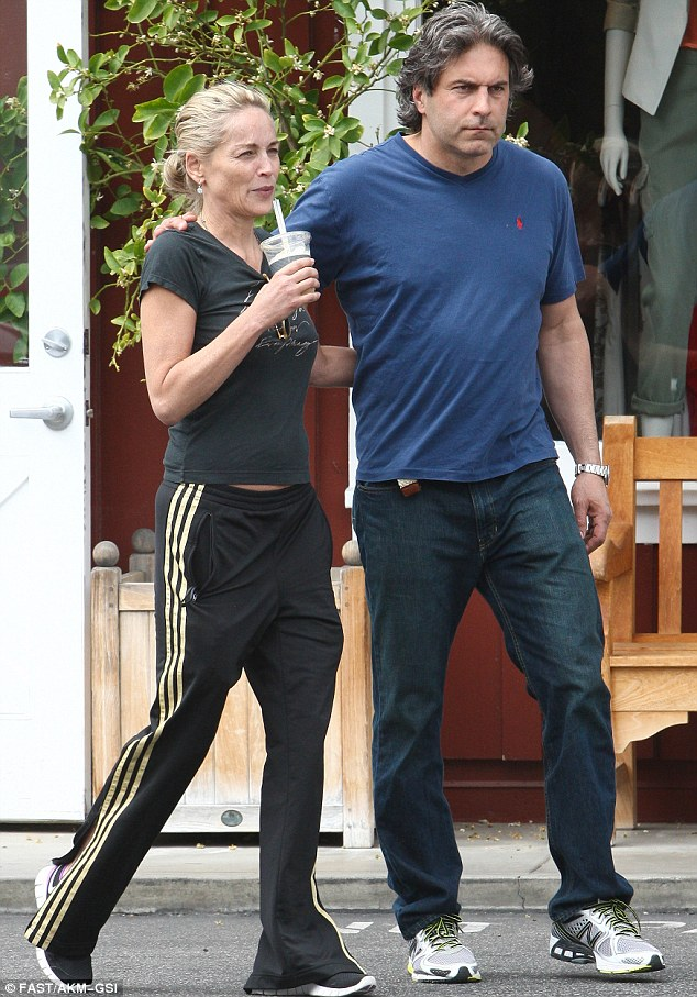Chummy: The pair dressed in similarly casual ensembles for their Sunday in Brentwood