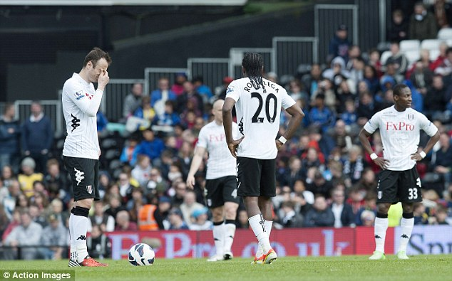 Stunned: Fulham were beaten 4-2 at home by already-relegated Reading at the weekend