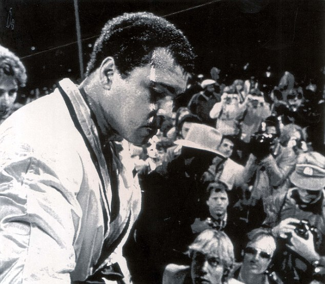 Under the hammer: The white robe worn by Muhammad Ali in 1981 will go to auction