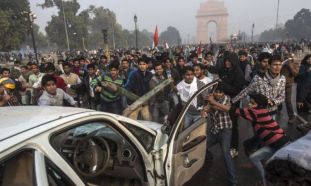 Violent clashes took place between Indian police and thousands of protestors in the wake of the gang rape of a 23-year-old student