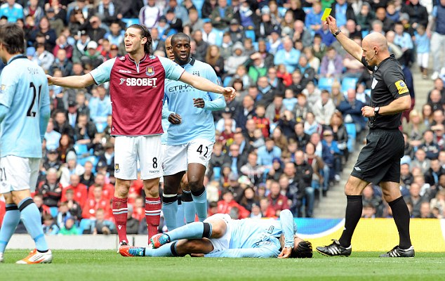 Big hitter: Carroll is joint top scorer at the Boleyn Ground, despite missing much of the season