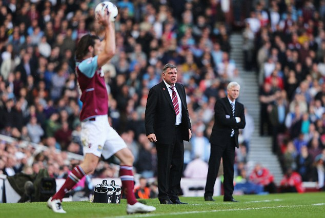 Sign him up! Cole wants Allardyce and the Hammers owners to strike a deal for the forward
