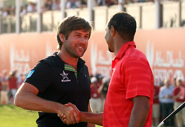 Finest hour: Rock held off Tiger Woods to win the Abu Dhabi Championship last year