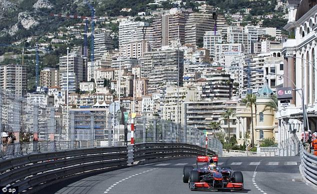 In heaven: Hamilton enjoys the small margin for error found on tracks like the one at Monaco