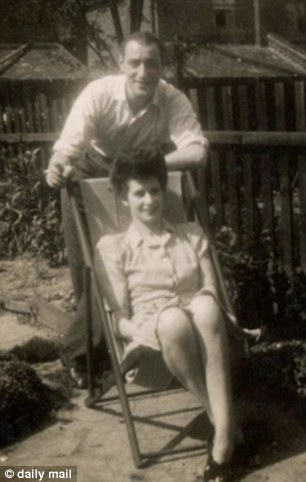 Devoted: Melanie's parents Alfred and Mabel Phillips in the Forties