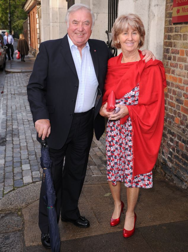 Suspect: Jimmy Tarbuck, pictured with his wife Pauline last year, has been arrested following a complaint made to police