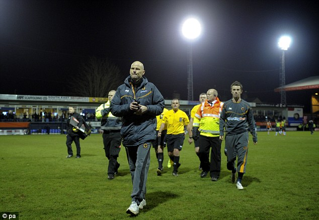 The writing's on the wall: Wolves parted company with Stale Solbakken after an FA CUp third round defeat at Luton