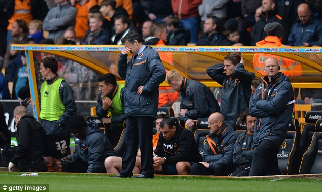 A sorry end: Dean Saunders was sacked after Wolves were relegated in successive seasons