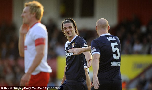 Good occasion: And both Andy Carroll and James Collins were among the goalscorers