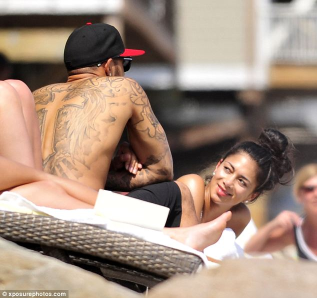 Racing driver Lewis lapping up the sun with his girlfriend Nicole Sherzinger