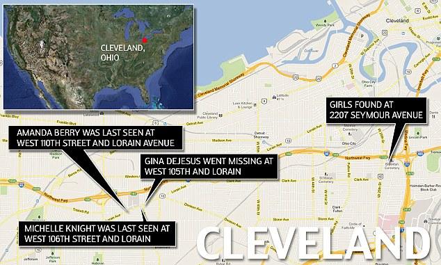 ***LOCATOR MAP: Missing Girls Cleveland