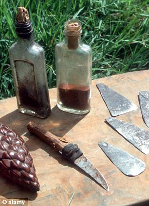 Barbaric: A collection of knives, blades and amulet used for female circumcision in Kenya's Pokot district