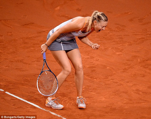 Champion: The 26-year-old tennis star usually favours a much sportier look